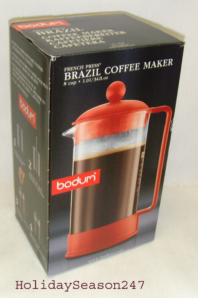 French Press Coffee Maker For Camping : BODUM French Press Brazil Coffee Maker 8 Cup No Filter Brewer For Camping Picnic eBay