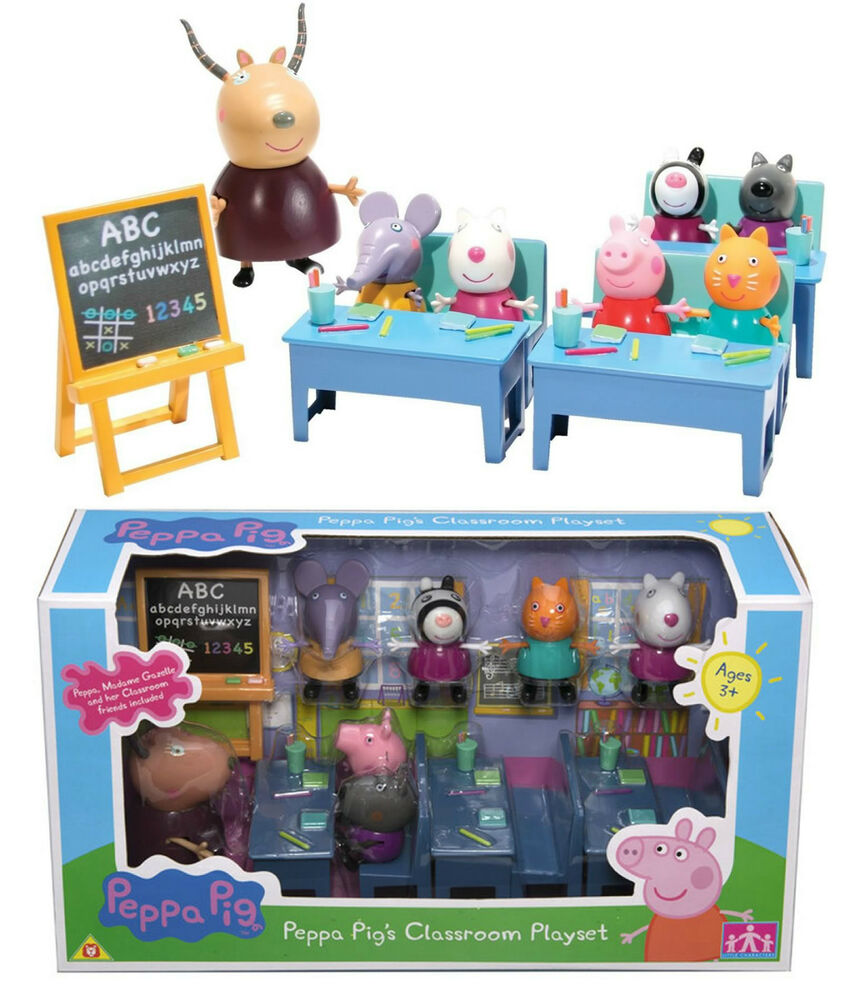 Toys For School : Peppa pig figures classroom school playset toy new ebay