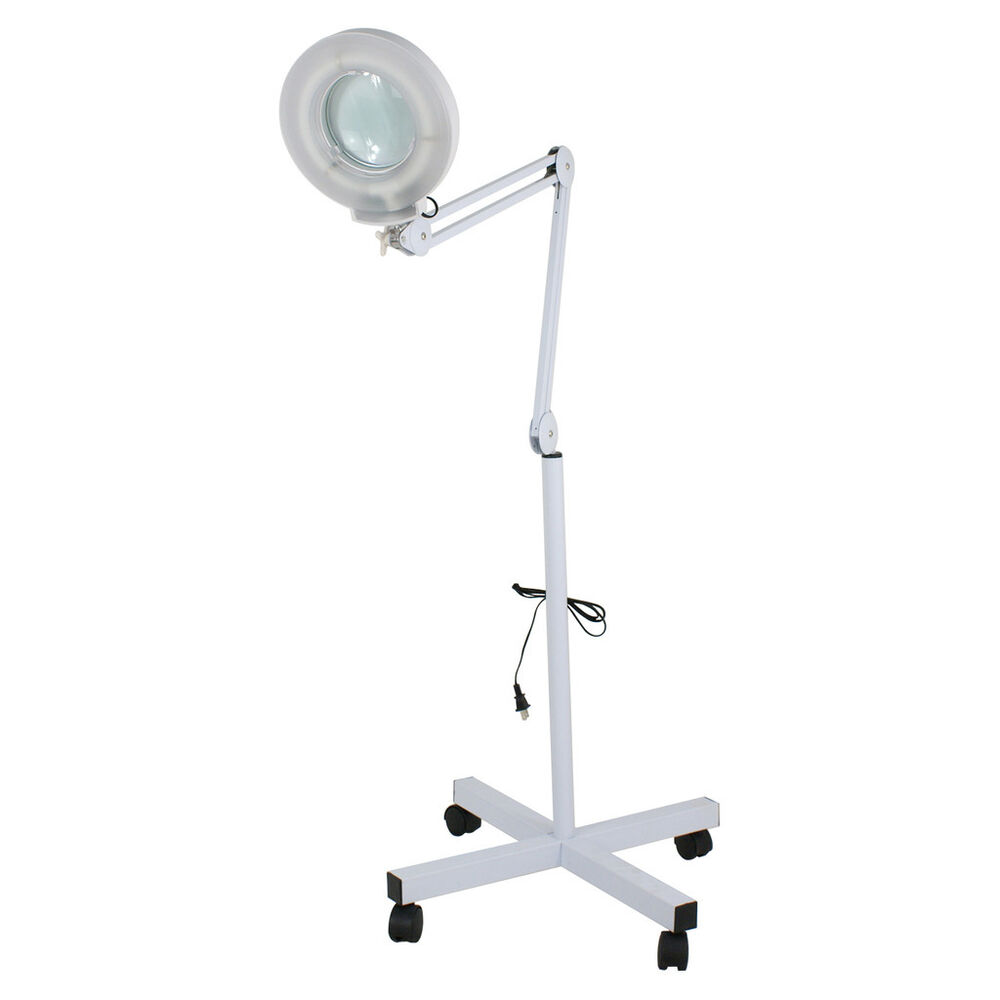 5x magnifying lamp floor mag light with rolling stand for salon spa. Black Bedroom Furniture Sets. Home Design Ideas