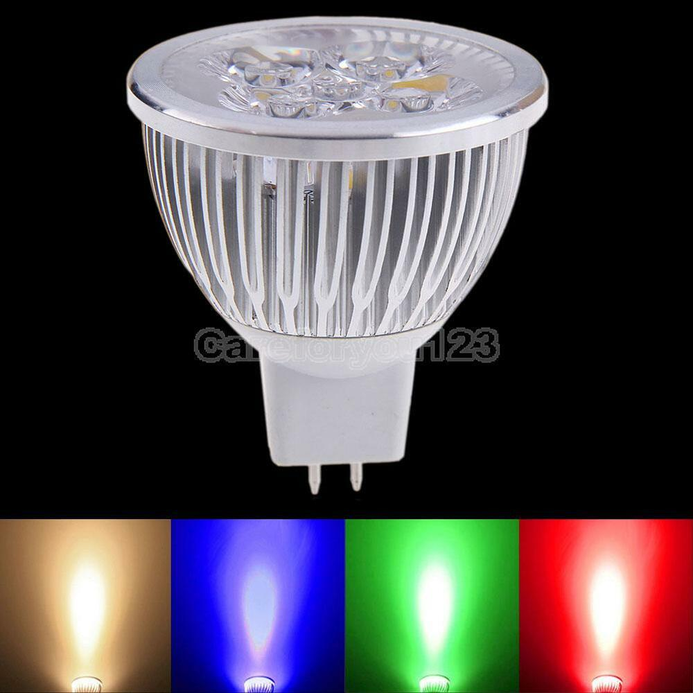 Led Spotlight Light Bulbs: MR16 4W 12V 320LM Bright Light LED Spotlight Lamp Low