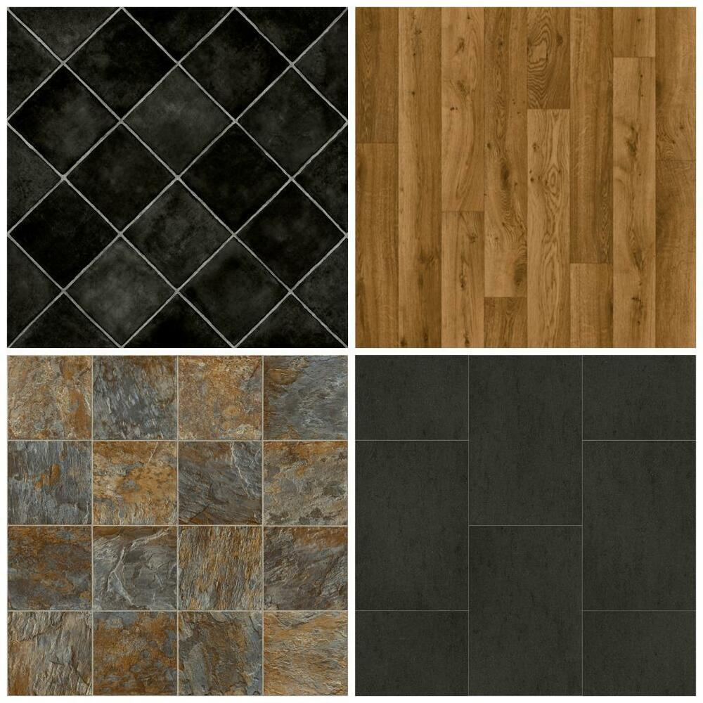 Cheap vinyl flooring brand new lino 3m wide non slip free for Cheap lino floor covering