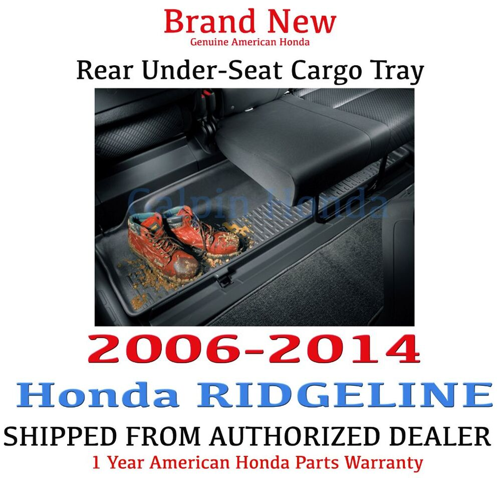 Genuine Oem Honda Ridgeline Rear Under Seat Cargo Tray 06