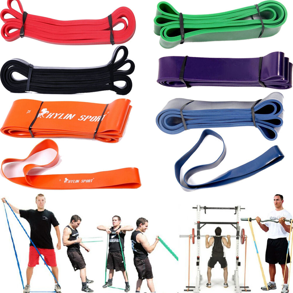 Rubber Stretch Resistance Band Exercise Loop Strength GYM
