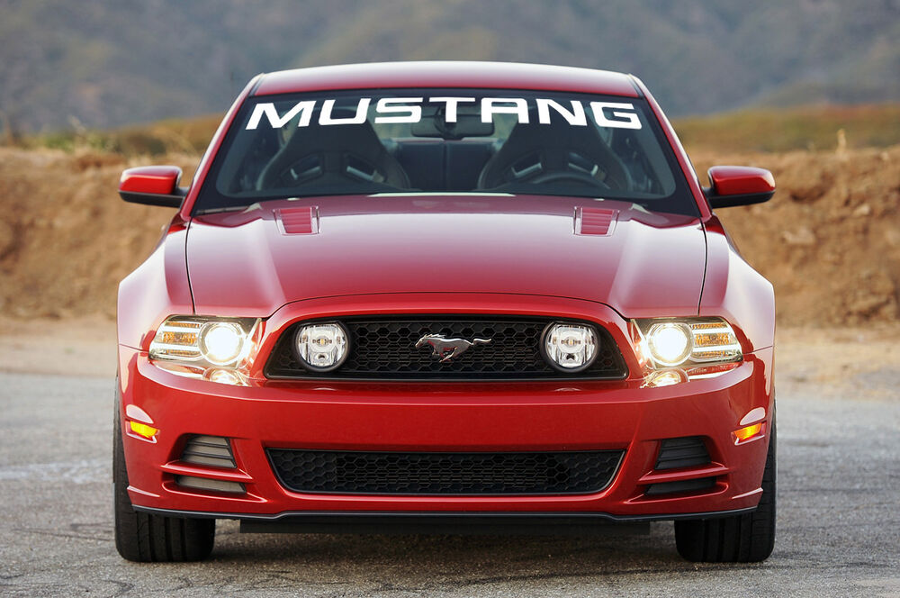 New Ford Mustang Solid White Windshield Banner Decal 45 Quot X