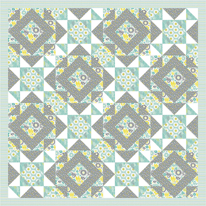 Fabric freedom petit fleur quilting kit fabric 100 for Cotton quilting fabric