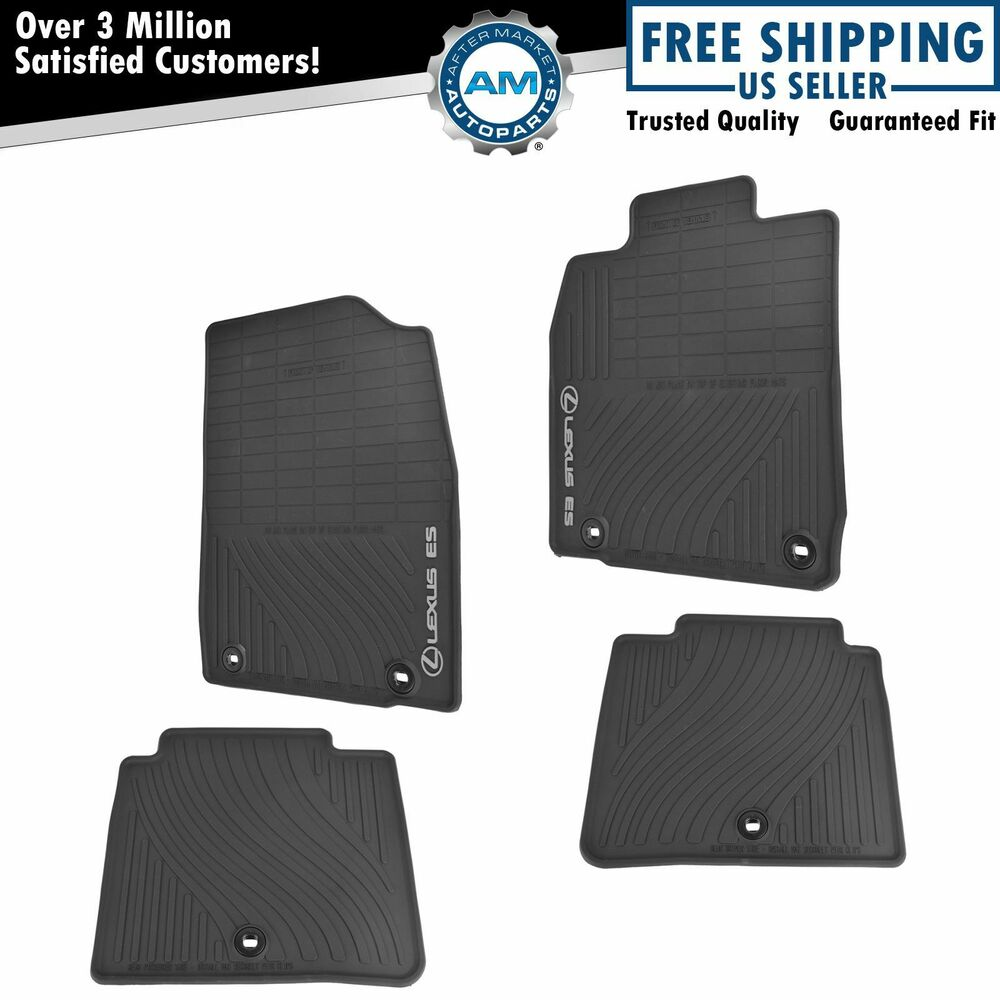 OEM All Weather Floor Mat Set Of 4 LH RH Front & Rear