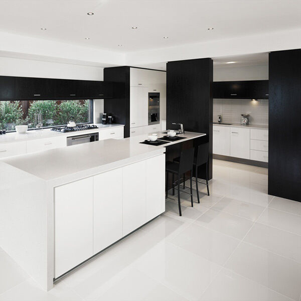 Black Gloss Kitchen Wall Tiles: (Supreme) 60 X 60 WALL