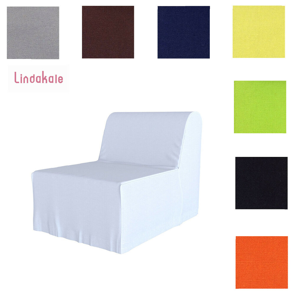 Custom made cover fits ikea lycksele chair bed replace for Sofa bed cover