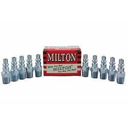 10 Pieces Milton 777 A Style Air Hose Fittings 1/4