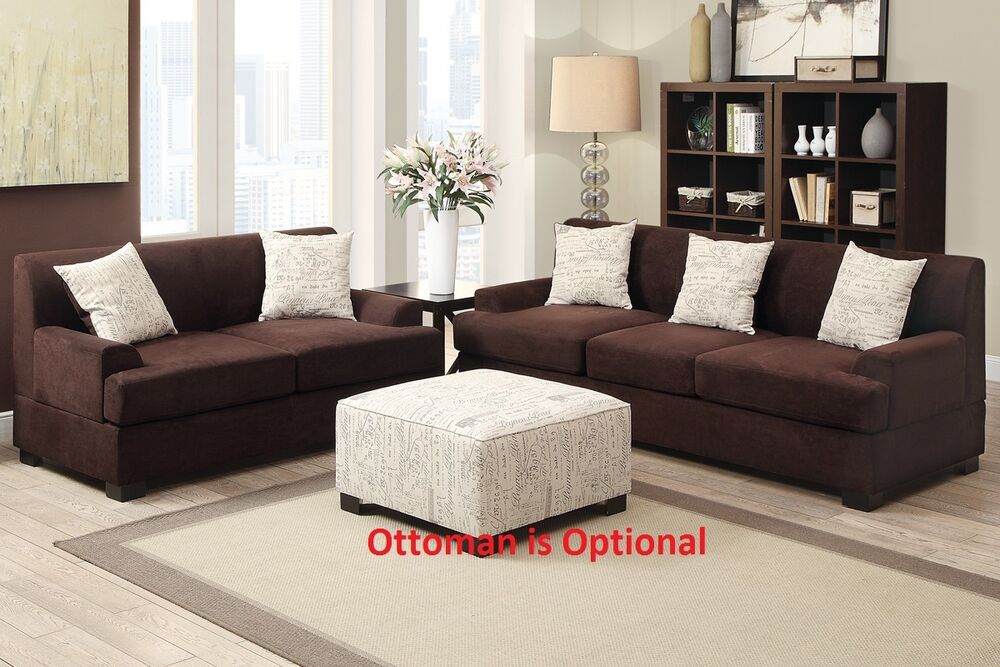 with arm rest 2pc set chocolate color living room furniture set ebay
