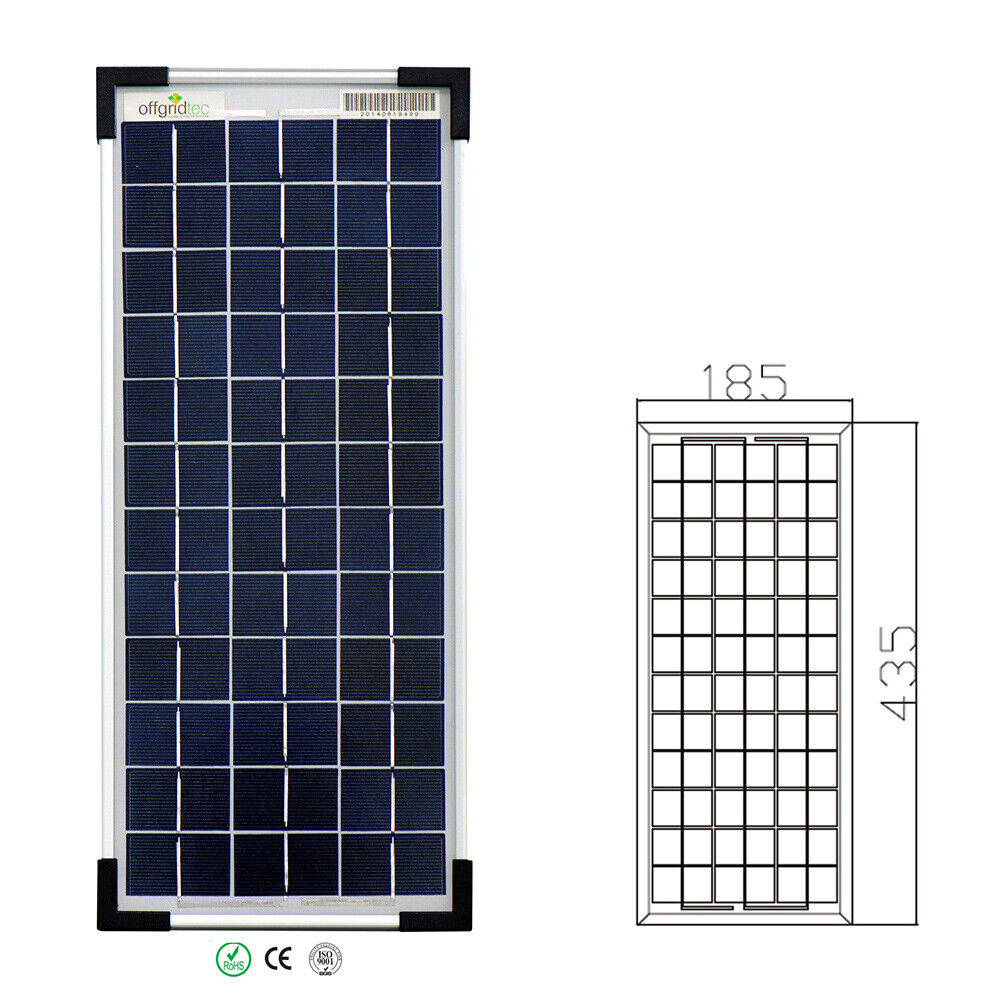offgridtec 10 watt poly 12v solarpanel solarzelle solarmodul ebay. Black Bedroom Furniture Sets. Home Design Ideas
