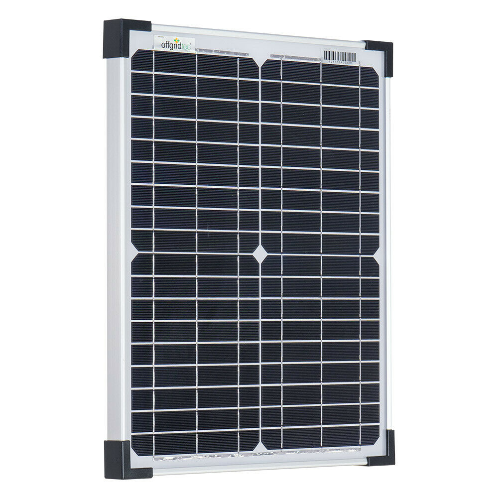 offgridtec 20w mono solarpanel 12v solarmodul solarzelle kleine solaranlage ebay. Black Bedroom Furniture Sets. Home Design Ideas