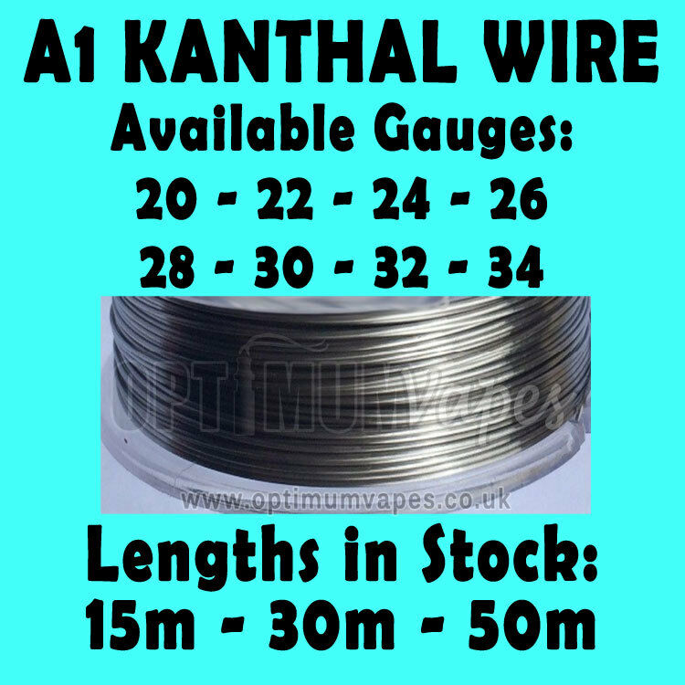 Kanthal A1 Wire in 0.16mm 0.20mm 0.25mm 0.32mm 0.40mm 0.51mm 0.64mm ...