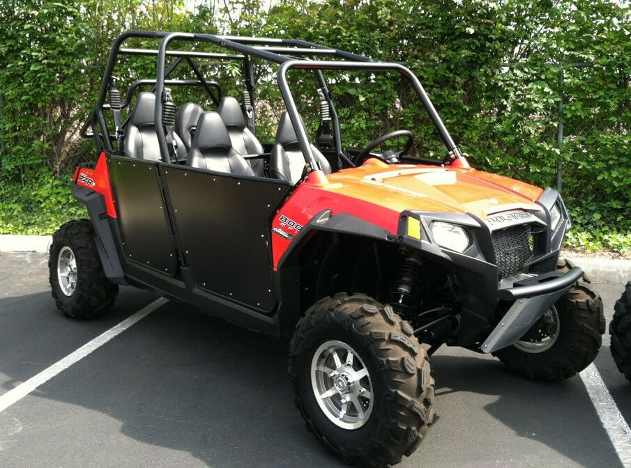 Rzr 4 Bear Claw Doors Black Fits Rzr 4 800 And Xp4 900