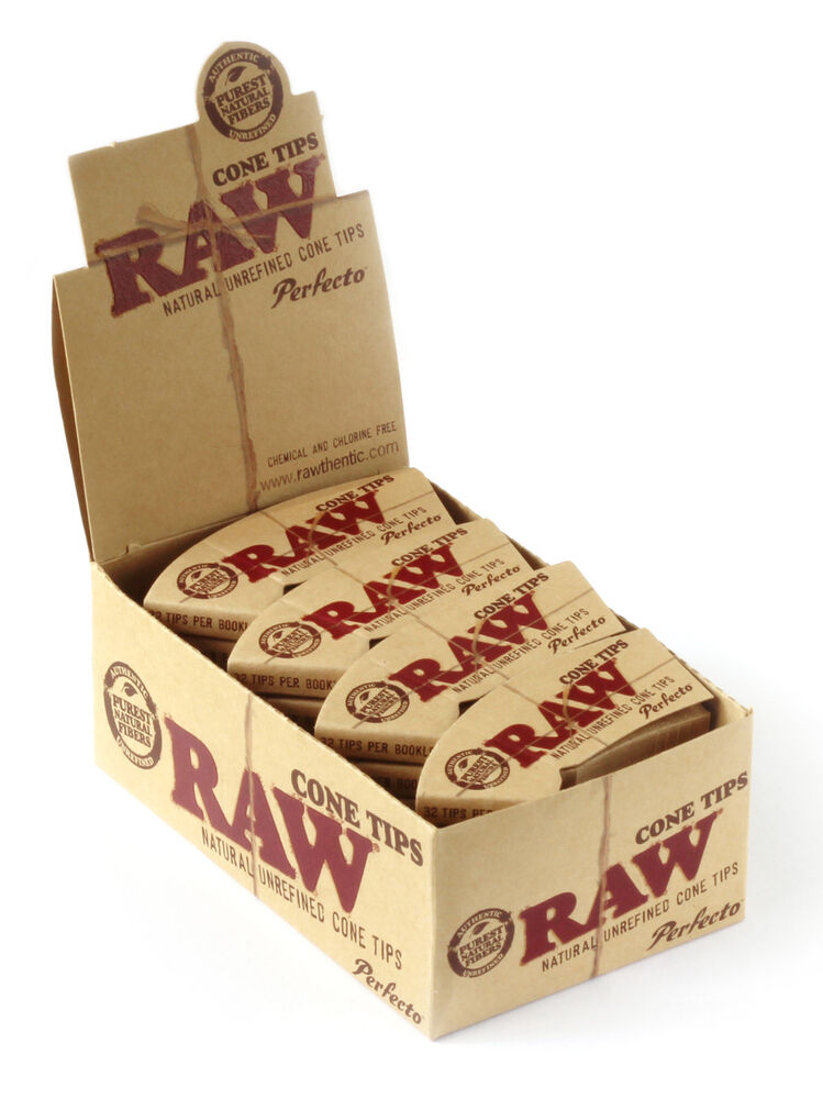 1 Box Raw Natural Rolling Cone Tips 24 Booklets Ebay