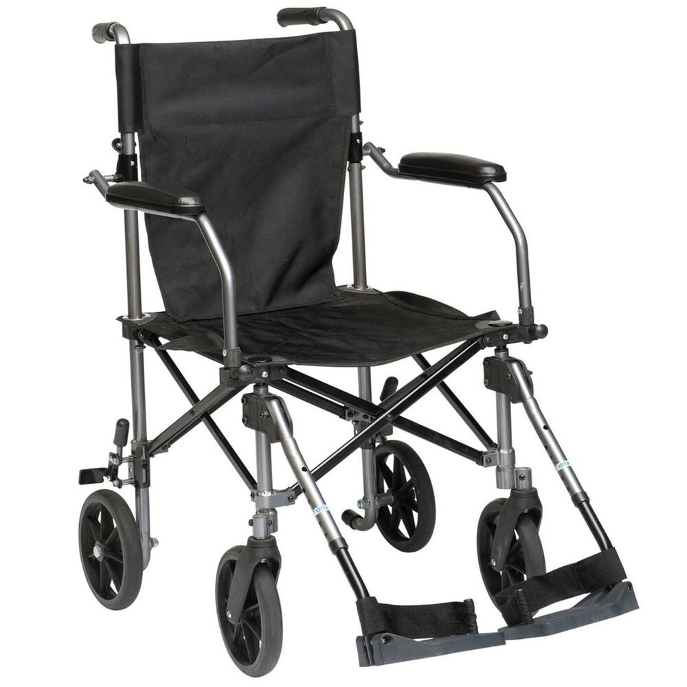 Travelite transport lightweight folding compact wheelchair for Mobility chair