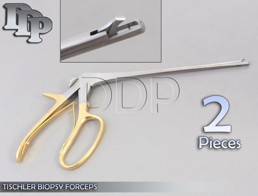 2 Tischler Biopsy Forceps Gynecology Surgical Instruments