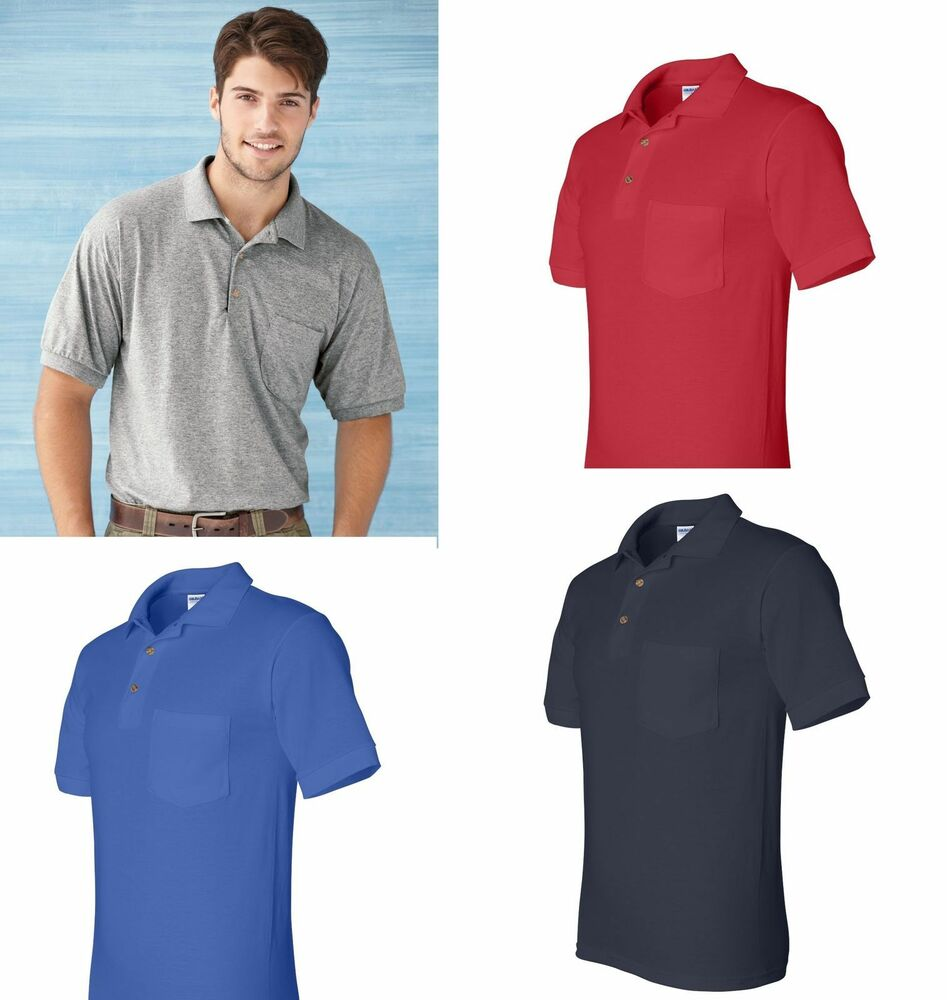 Gildan mens polo shirts dryblend jersey sport shirt with a for Men s athletic polo shirts