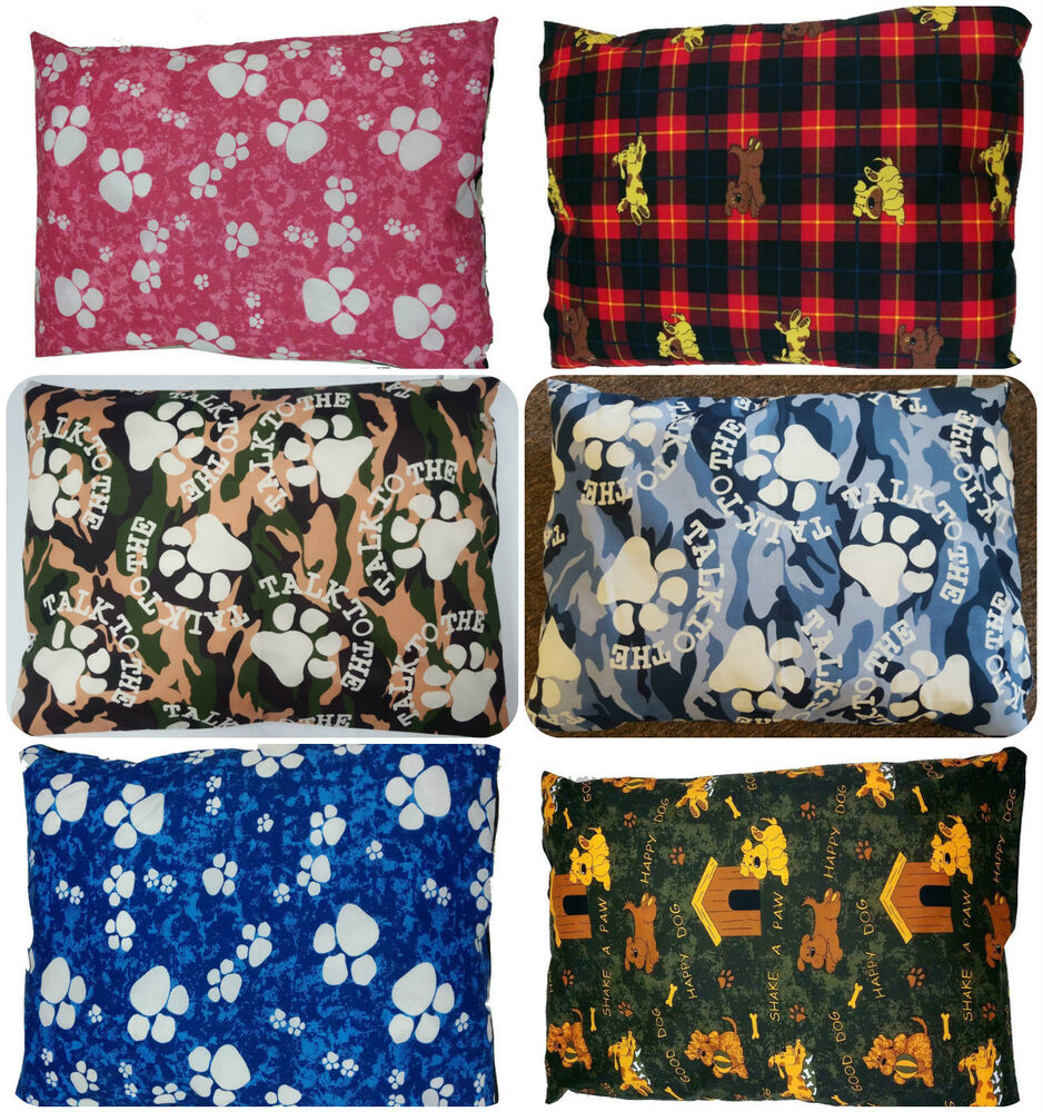 REMOVABLE ZIPPED LUXURY PET CUSHION LARGE DOG BED PILLOW