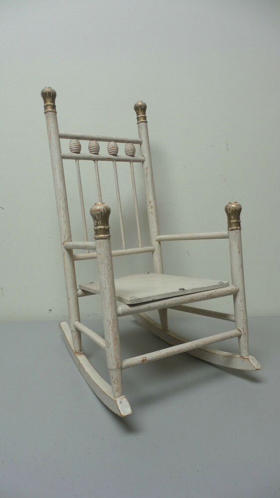 Antique Hand Made Primitive 16 Quot High Doll S Rocking Chair