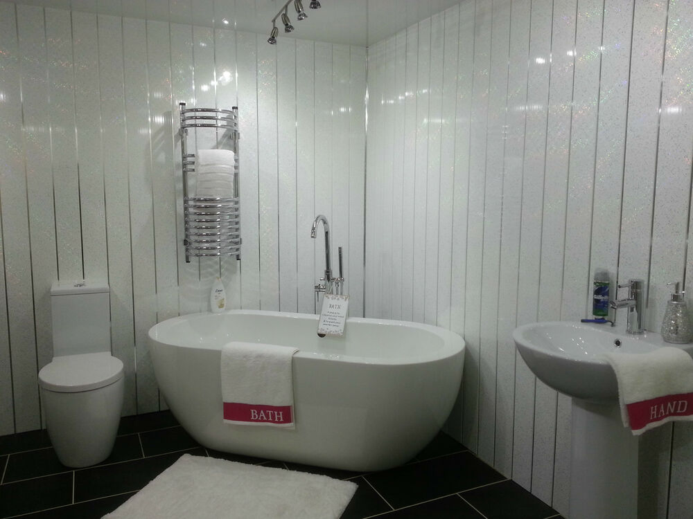 white pvc cladding for bathrooms 4 white sparkle chrome wall panels pvc waterproof 24672