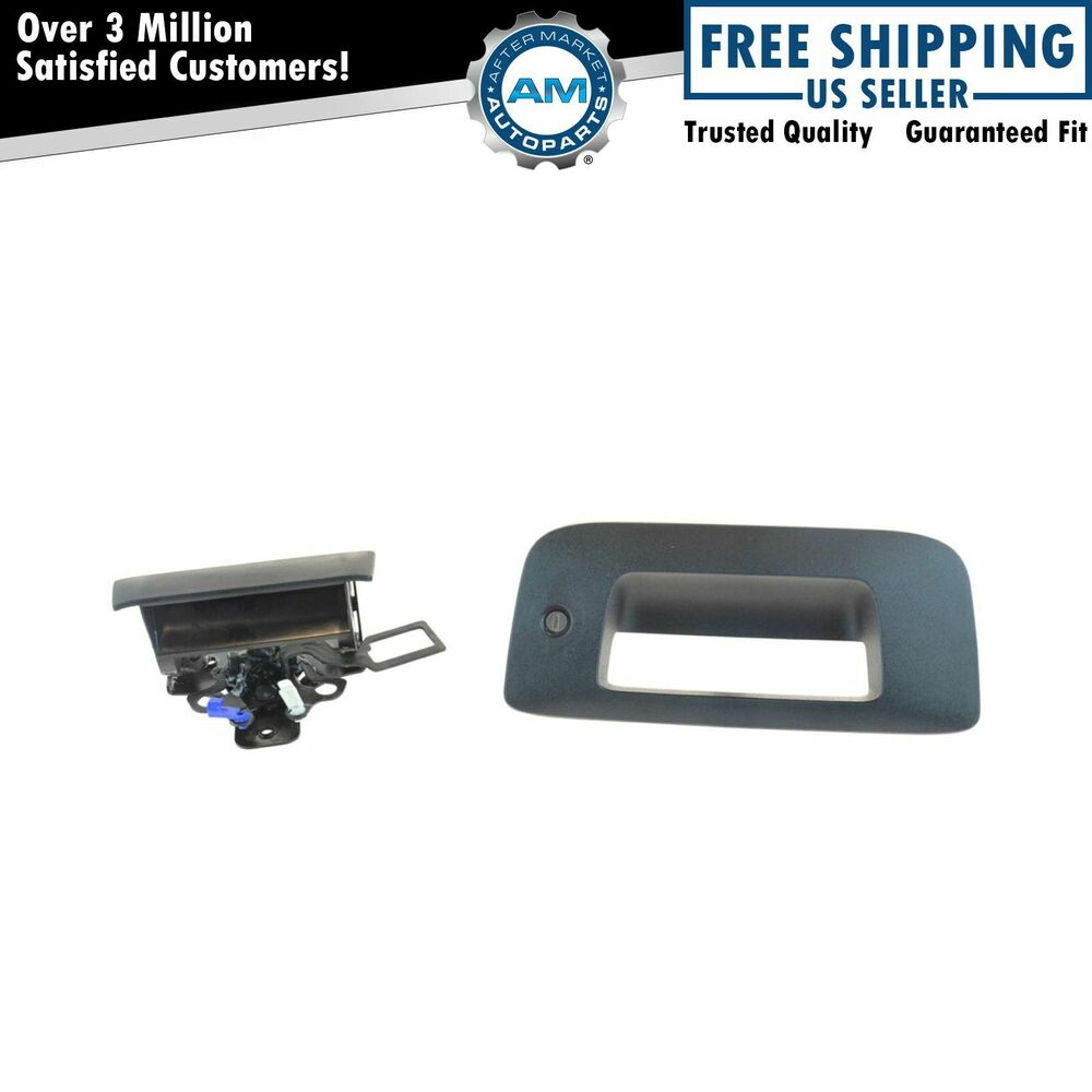 Oem Tailgate Handle W Lock Textured Black Kit For Chevy