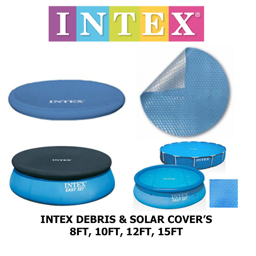 Intex Swimming Pool Debris And Solar Covers 8ft To 15ft You Choose Summer Fun Ebay