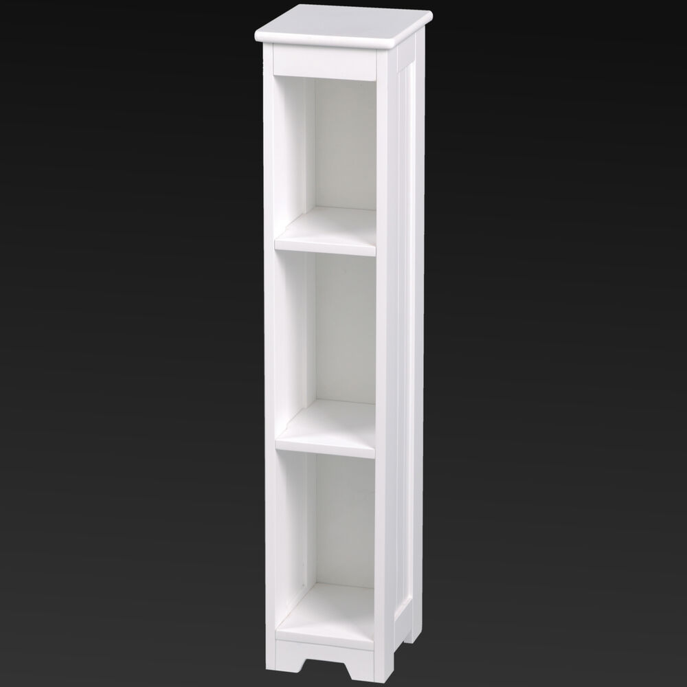White Wooden Bathroom Shelving Unit Storage Towels Toilet Rolls Stylish Ebay