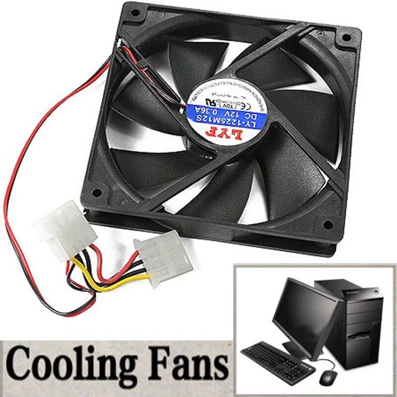 Computer Fan Cooler : Dc v mm computer chassis pc case pin ide cool
