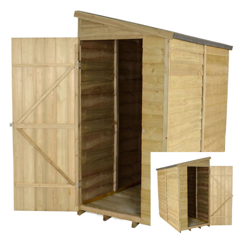 6x3 pressure treated garden wall wooden shed new un used for Garden shed 6x3