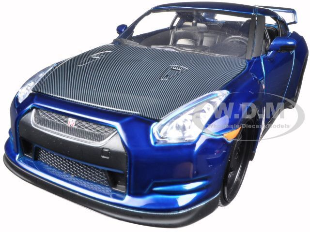 brian 39 s 2009 nissan gtr r35 blue fast furious 7 movie. Black Bedroom Furniture Sets. Home Design Ideas