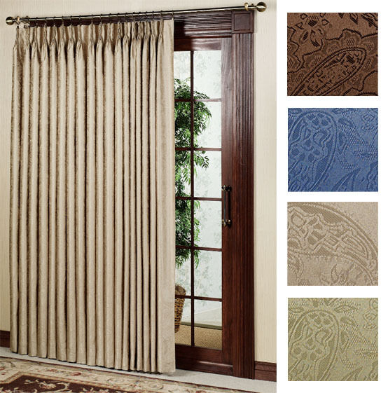 New Gabrielle Pleat Thermal Patio Door Panel Curtain 96 Wide By 84 Long Ebay