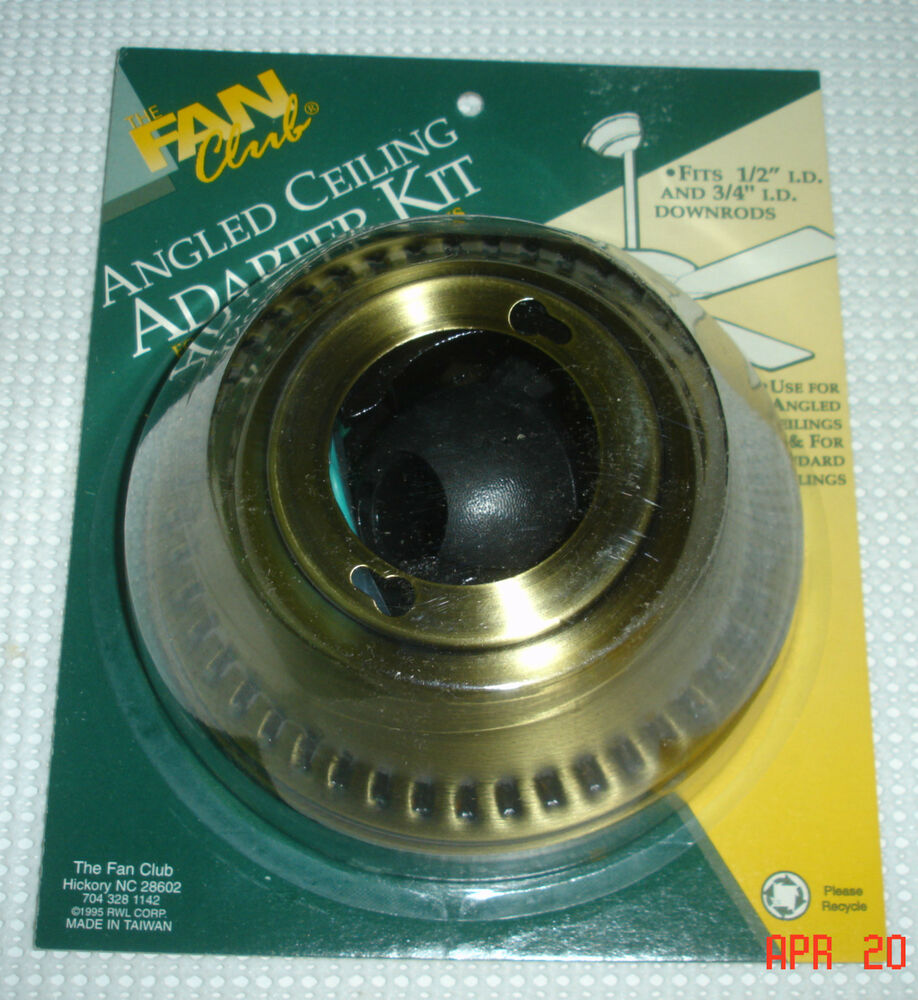 Angled Ceiling Adapter Kit For Ceiling Fans Etc Fits 1 2