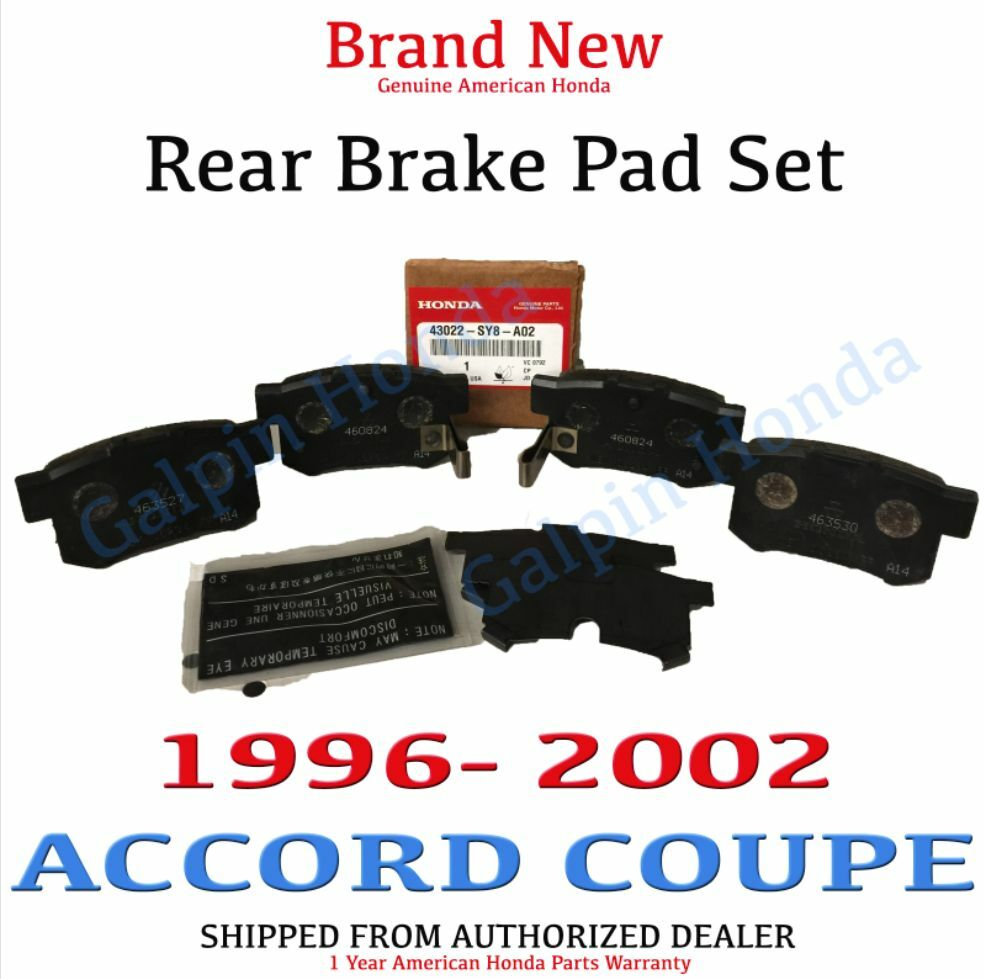 1996 2002 honda accord coupe genuine factory oem rear brake set 43022 sy8 a02 ebay. Black Bedroom Furniture Sets. Home Design Ideas