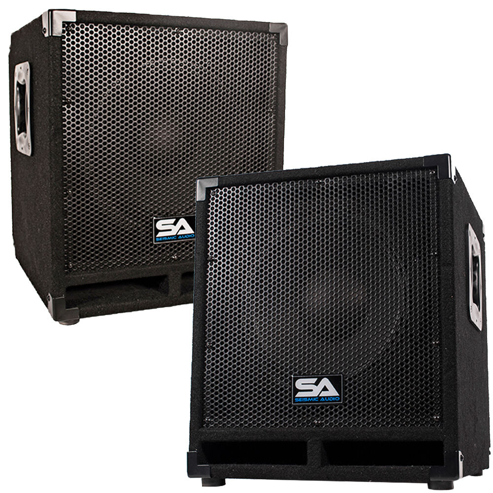 Pro Audio Subwoofer : pair of powered 12 pro audio subwoofer cabinets pa band dj kj subs ebay ~ Vivirlamusica.com Haus und Dekorationen