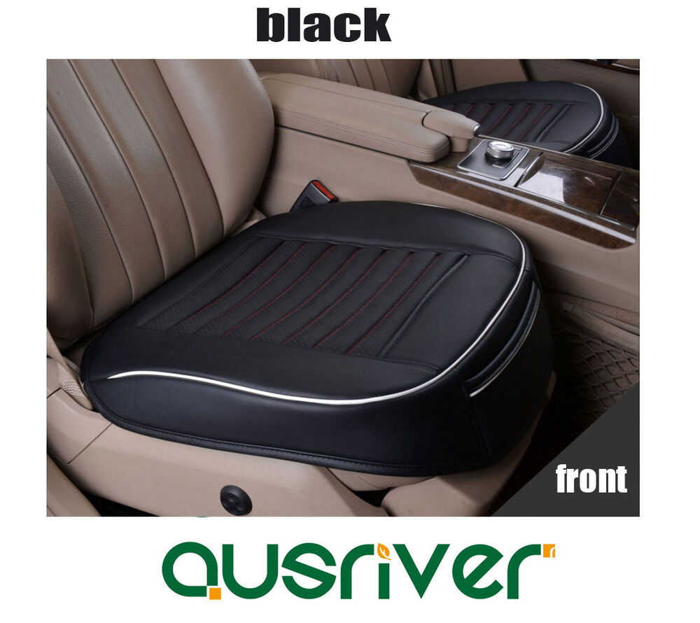 new universal breathable leather car front seat cover one single piece black ebay. Black Bedroom Furniture Sets. Home Design Ideas