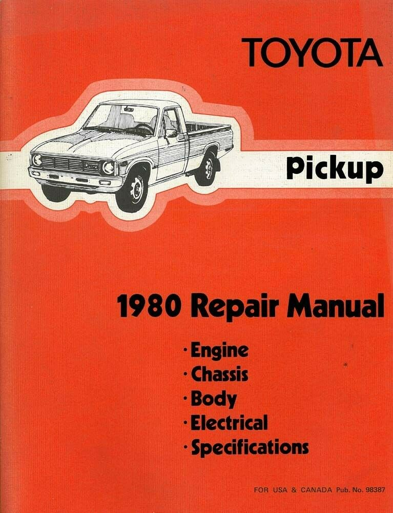 1980 toyota pickup truck shop service repair manual ebay rh ebay com Product Service Manuals Motorcycle Auto -Owners Manuals