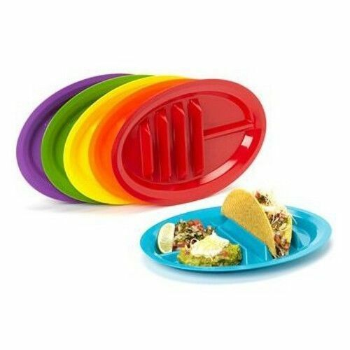 Fiesta Taco Plates Set Of 6 Your Tacos Won T Fall Over