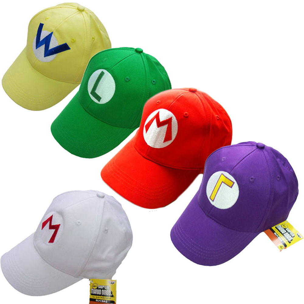 mario bros luigi baseball hat adjustable