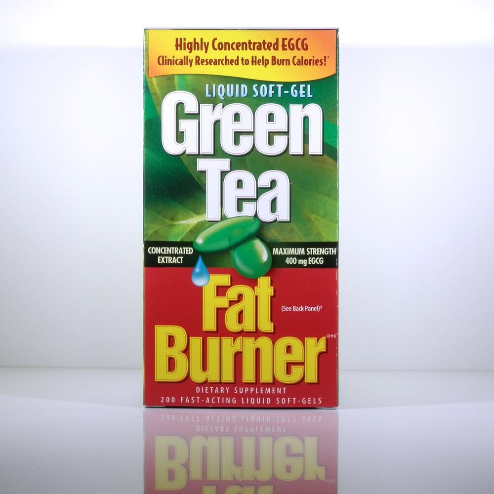 Green Tea Fat Burner 200 Fast Acting Liquid Soft Gel 400mg ...