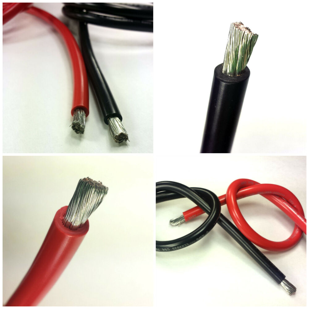 6 Awg Gauge Battery Cable Marine Grade Wire Tinned Copper
