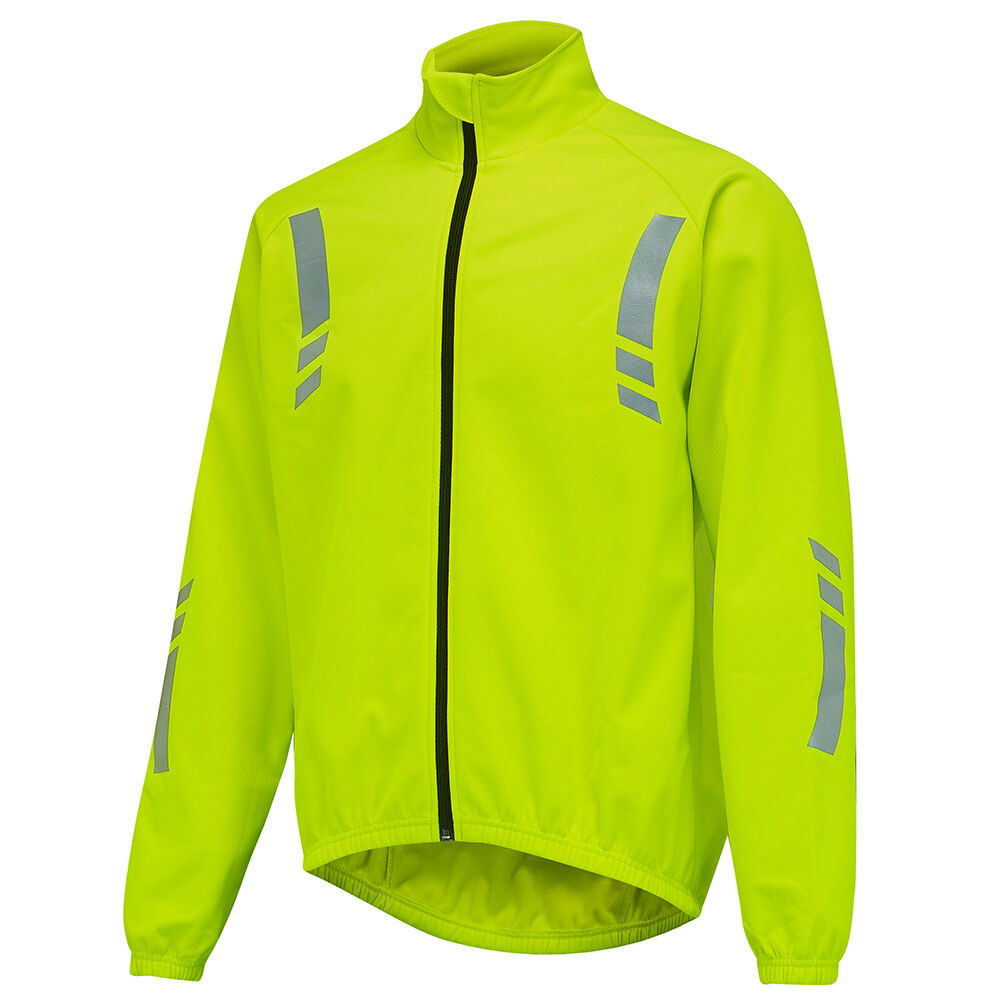 Mens Windproof Thermal Hi-Vis Reflective Yellow Cycling ...