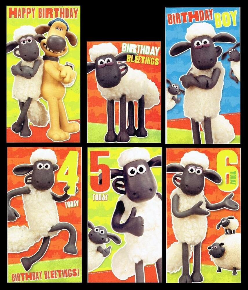 SHAUN THE SHEEP MOVIE OFFICIAL BIRTHDAY CARD Great Graphics – Shaun the Sheep Birthday Card
