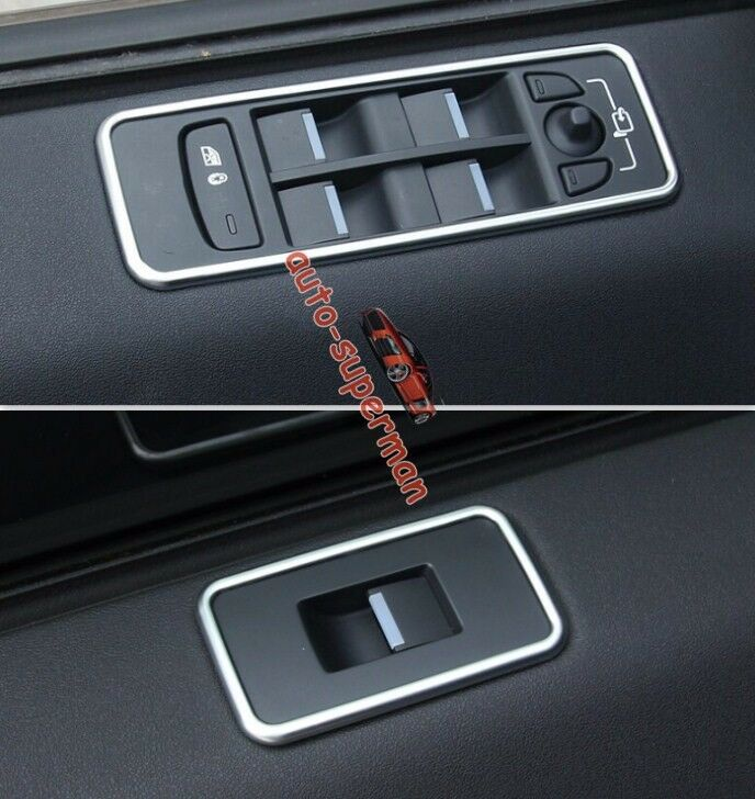 Chrome Door Window Switch Panel Frame Cover Trim Land