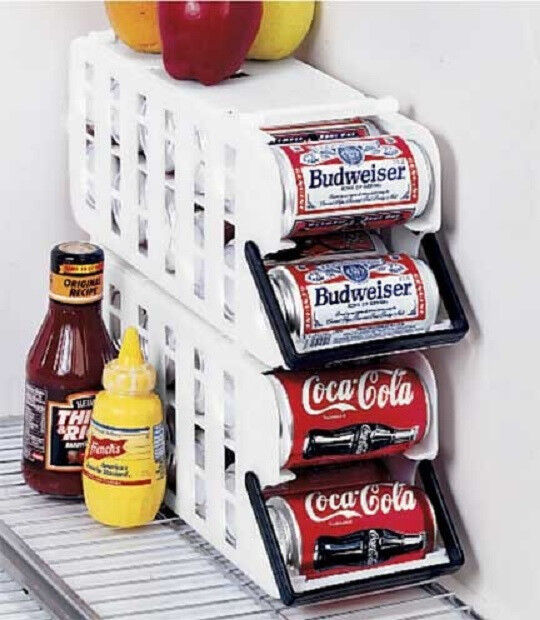 Set Of 2 Fridge Refrigerator Soda Beer Can Dispenser Rack