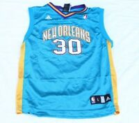 DAVID WEST NEW ORLEANS HORNETS #30 NBA ADIDAS Youth Jersey L