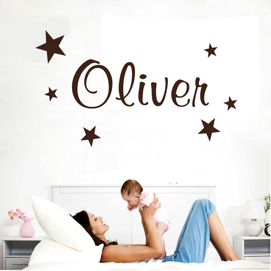 28 baby name wall stickers wall decals personalized names baby name wall stickers wall stickers custom baby name star vinyl decal decor