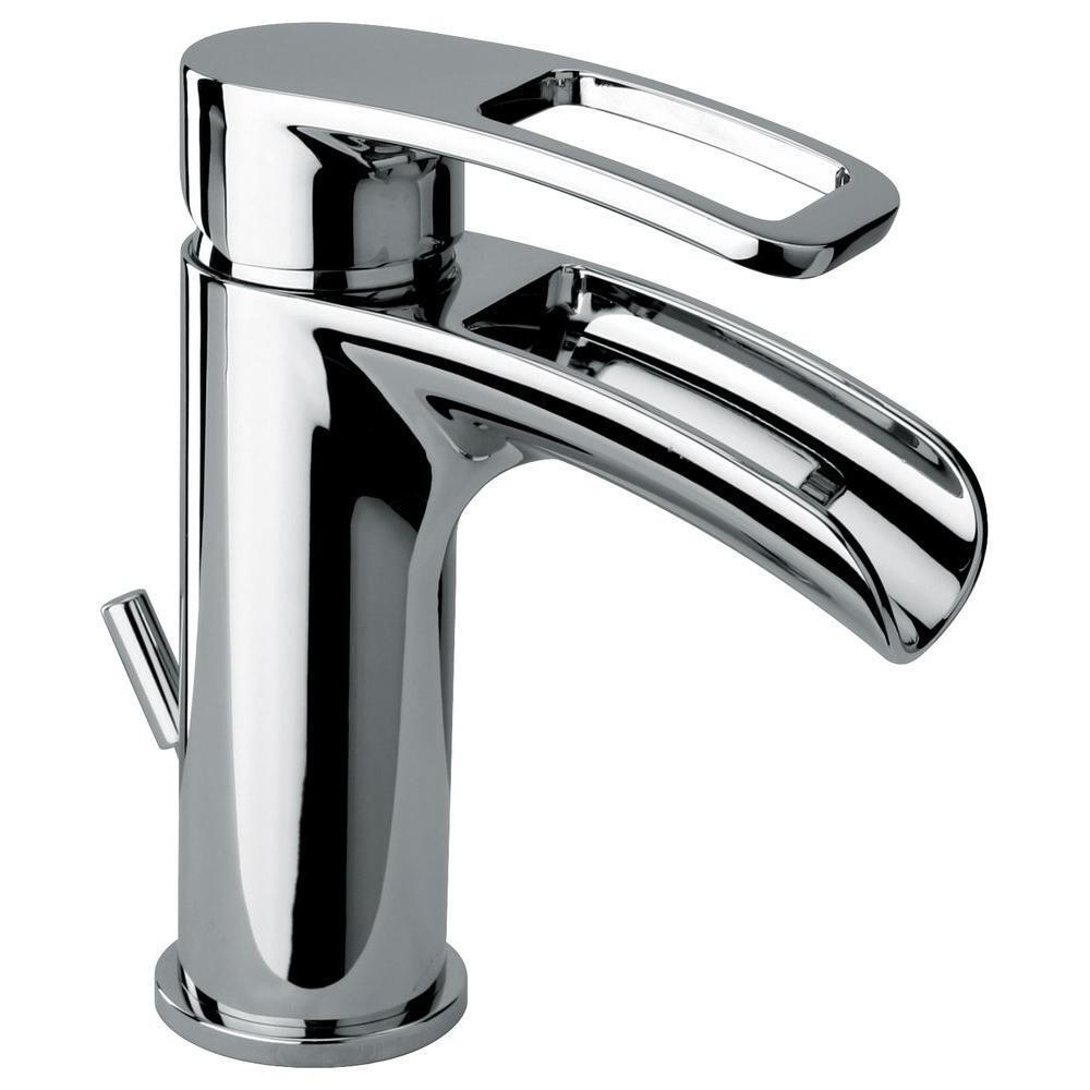 Glacier Bay Kiso Single Hole 1 Handle Low Arc Bathroom Faucet In Chrome Ebay
