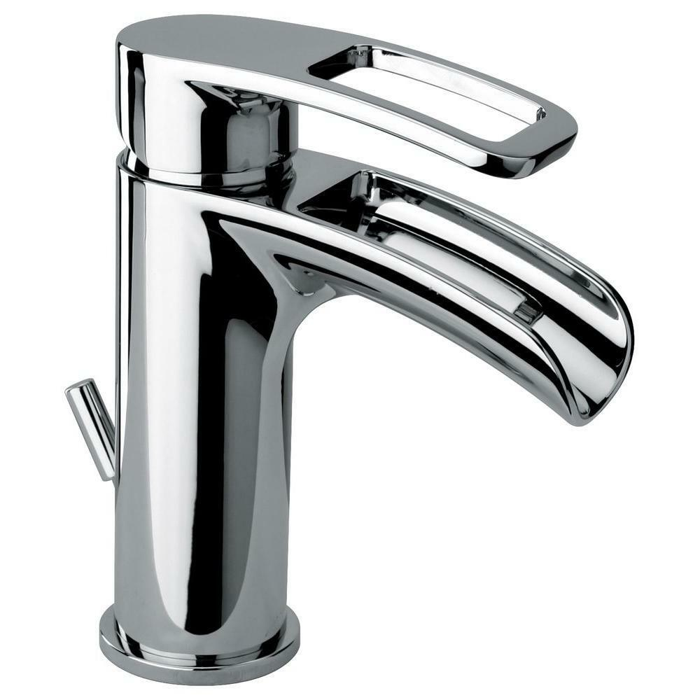 Glacier bay kiso single hole 1 handle low arc bathroom for Single hole bathroom faucets