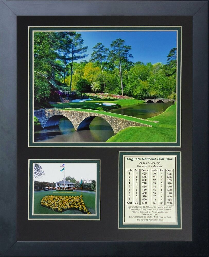 11x14 Framed Augusta National Golf Club Course Bobby Jones
